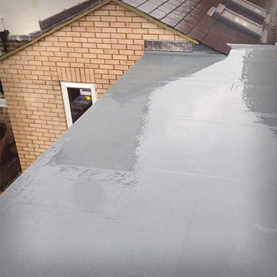 GRP Fibreglass Roofing in matlock derbyshire